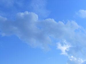 空と積雲の写真