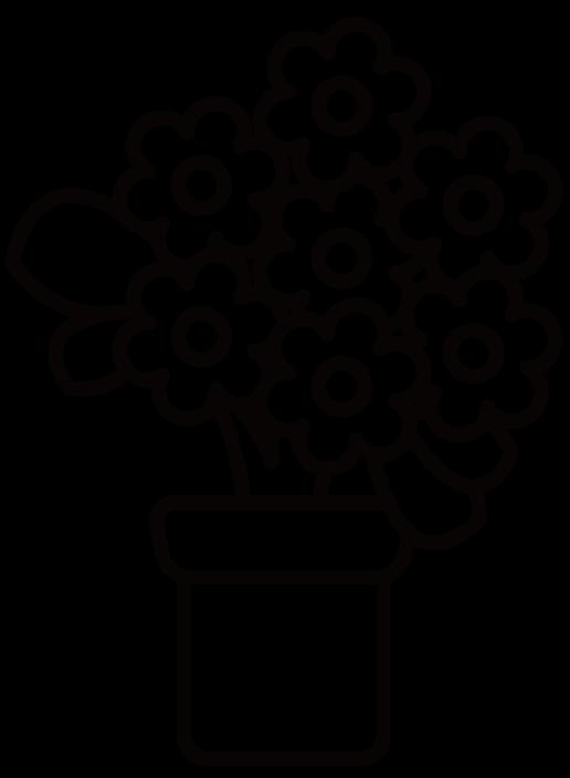 花・アリッサムのイラスト(白黒) 無料素材 CC0 「素材ある」