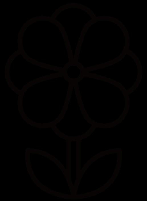 花・アネモネのイラスト(白黒) 無料素材 CC0 「素材ある」