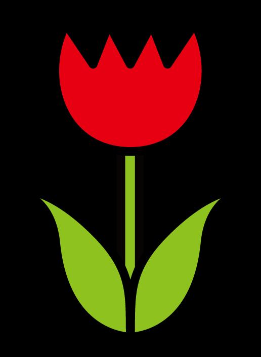 花・チューリップのイラスト(色アリ) 無料素材 CC0 「素材ある」