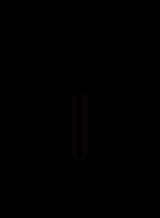 花・チューリップのイラスト(白黒) 無料素材 CC0 「素材ある」