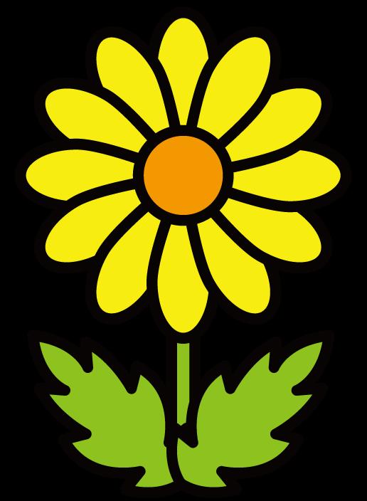 花・菊のイラスト(色アリ) 無料素材 CC0 「素材ある」