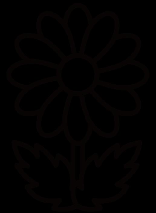 花・菊のイラスト(白黒) 無料素材 CC0 「素材ある」