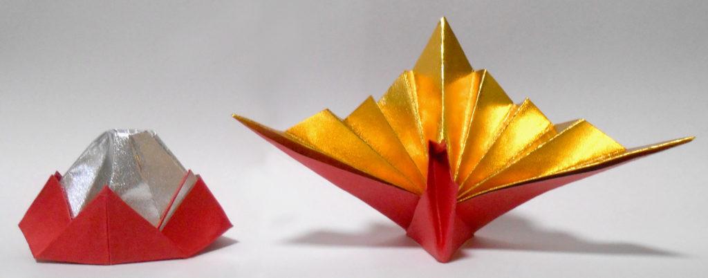 折り紙鶴と富士山・正月・お祝いの写真 無料素材 CC0 「素材ある」