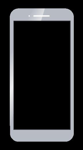スマートフォンのイラスト(グレー) 無料素材 CC0 「素材ある」