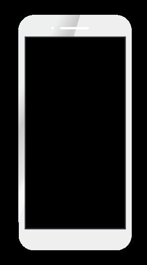 スマートフォンのイラスト(白) 無料素材 CC0 「素材ある」