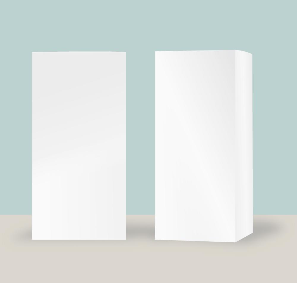 化粧品などの外箱のモックアップ用イラスト無料素材 CC0 「素材ある」