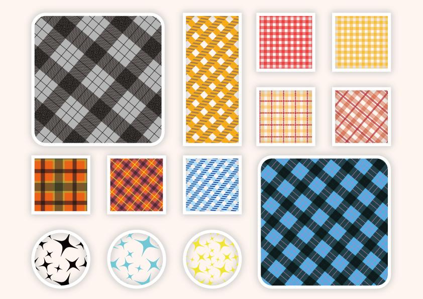 パターン(チェック・キラキラ)無料素材 CC0 「素材ある」