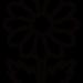 花のイラスト・モチーフ:菊(白黒)